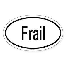 FRAIL Oval Decal