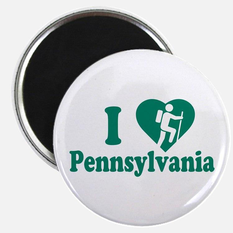 Love Hiking Pennsylvania Magnet