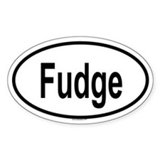 FUDGE Oval Decal