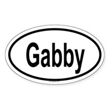 GABBY Oval Decal