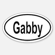GABBY Oval Decal