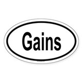 Gains Bumper Stickers