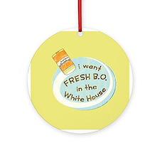 Vintage Fresh B.O. Obama Keepsake Ornament (Round)