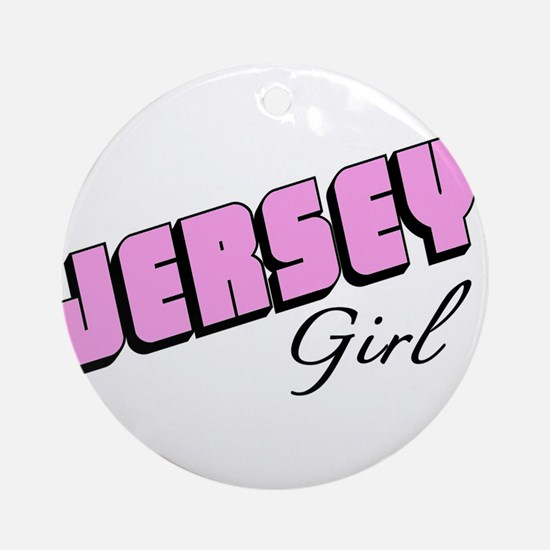 Jersey Girl Round Ornament