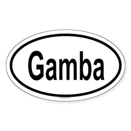 GAMBA Oval Sticker