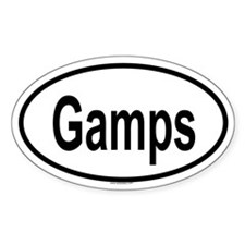 GAMPS Oval Decal