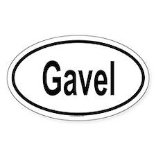GAVEL Oval Decal