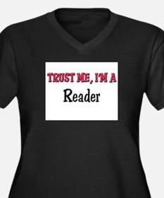 Trust Me I'm a Reader Women's Plus Size V-Neck Dar