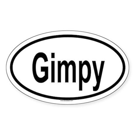 GIMPY Oval Sticker