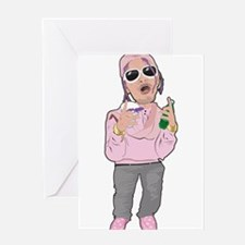 Turn Up Rapper Greeting Cards