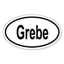 GREBE Oval Decal