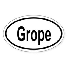 GROPE Oval Decal