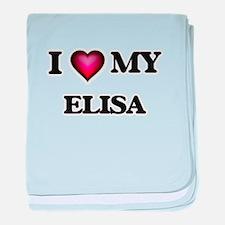 I love my Elisa baby blanket