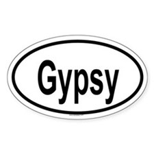 GYPSY Oval Decal
