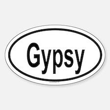 GYPSY Oval Decal