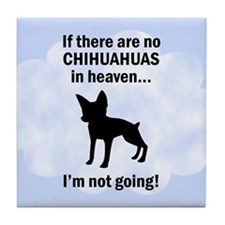 Chihuahuas In Heaven Tile Coaster