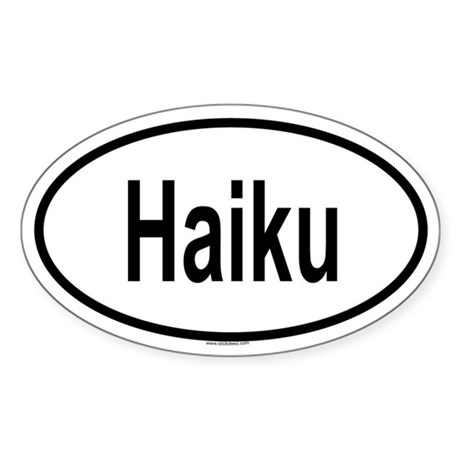 HAIKU Oval Sticker