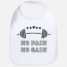 No Pain - No Gain Baby Bib