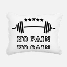No Pain - No Gain Rectangular Canvas Pillow