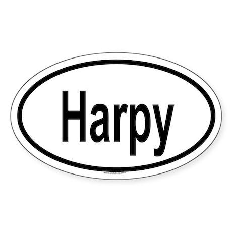 HARPY Oval Sticker