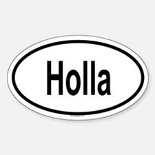HOLLA Oval Decal