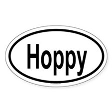 HOPPY Oval Decal
