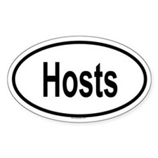 HOSTS Oval Decal