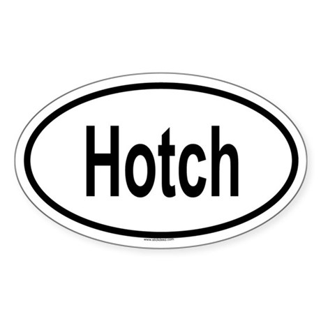 HOTCH Oval Sticker