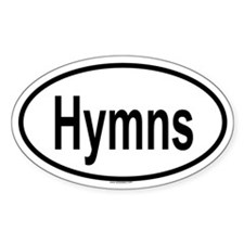 HYMNS Oval Decal