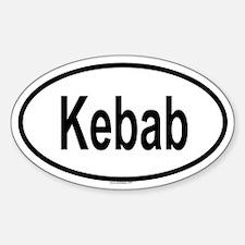 KEBAB Oval Decal