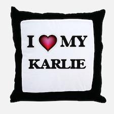 I love my Karlie Throw Pillow
