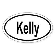 KELLY Oval Decal