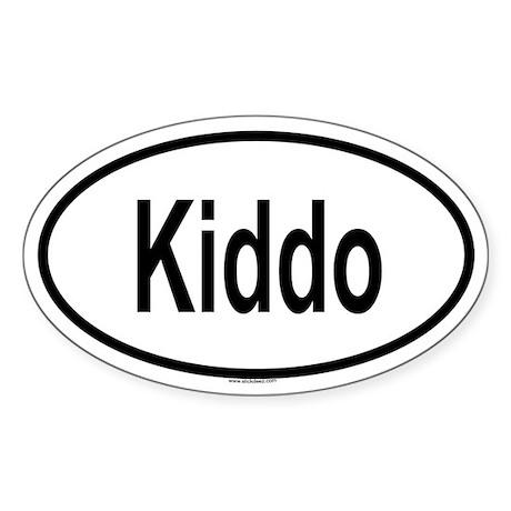 KIDDO Oval Sticker