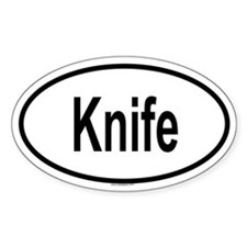 KNIFE Oval Decal