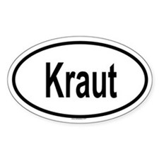 KRAUT Oval Decal