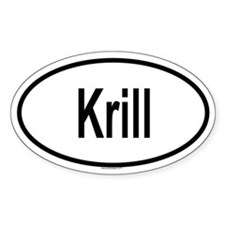 KRILL Oval Decal