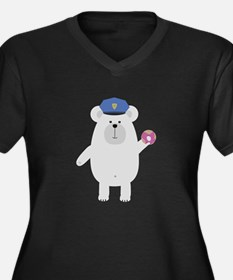 Polar Bear Police Officer Plus Size T-Shirt