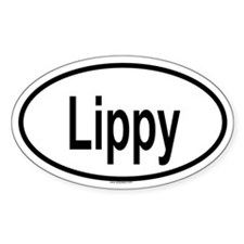 LIPPY Oval Decal