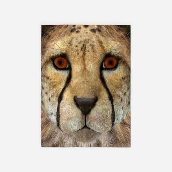 Cheetah 5'x7'Area Rug