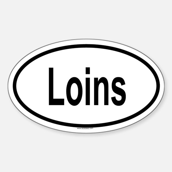 LOINS Oval Decal