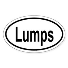 LUMPS Oval Decal