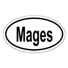 MAGES Oval Decal