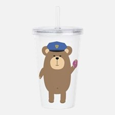 Police Office Brown Be Acrylic Double-wall Tumbler