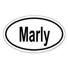 MARLY Oval Decal