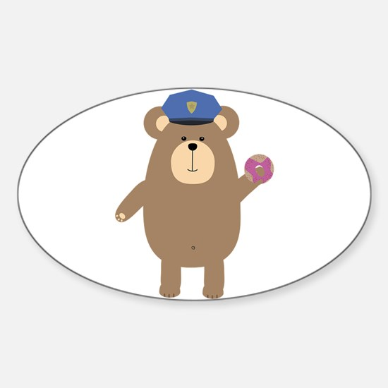 Police Office Brown Bear Decal