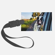 Happy Dog On The Road Luggage Tag