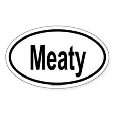 MEATY Oval Decal