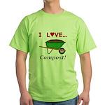 I Love Compost Green T-Shirt