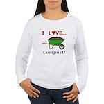 I Love Compost Women's Long Sleeve T-Shirt