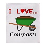 I Love Compost Throw Blanket